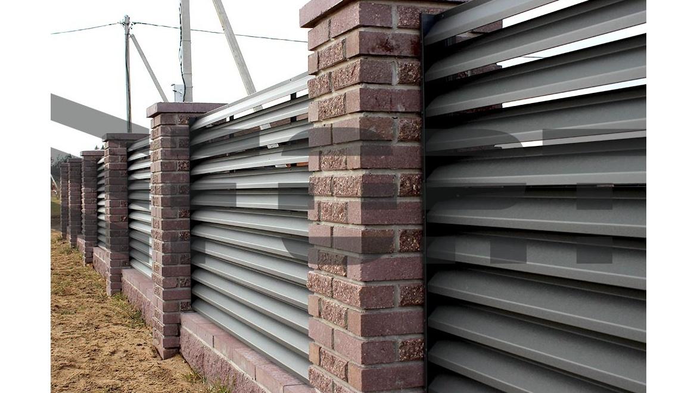 Забор жалюзи fort lux для частного дома