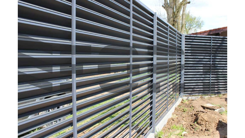 Металлический забор жалюзи fort lux