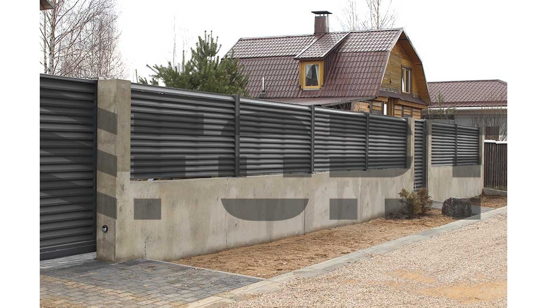 Забор жалюзи металлический fort lux для участка