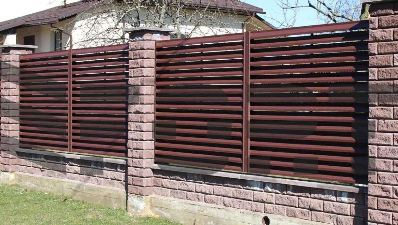 забор-жалюзи красные fort lux