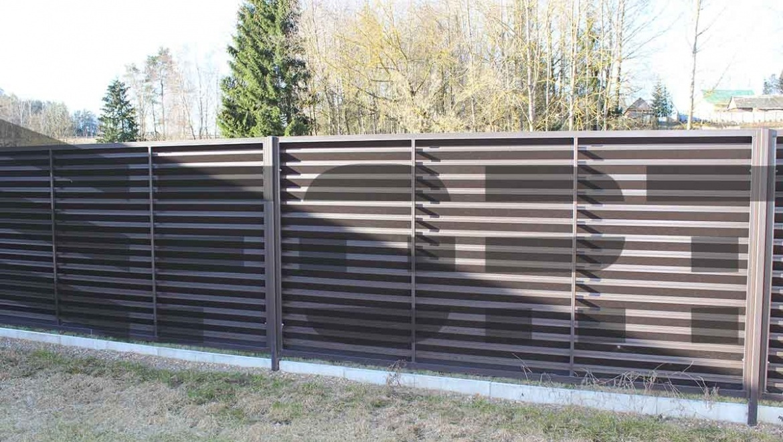 забор жалюзи fort lux для участка