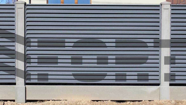 металлический забор жалюзи comfort lux