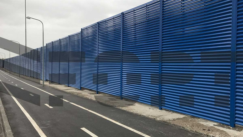 забор жалюзи fort lux для парковки