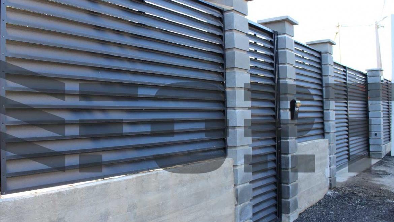 забор жалюзи fort comfort для двора